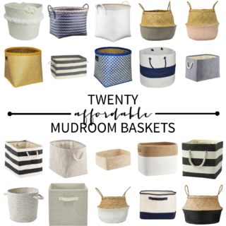 Affordable Mudroom Baskets