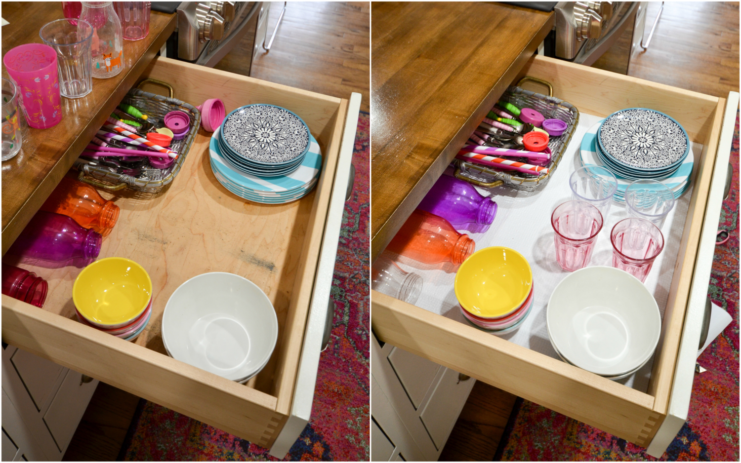 Spring cleaning kitchen cabinets - It S Non Adhesive So If The Liner Starts To Look Worn In Another Year I Can Simply Take It Out And Replace It The Smooth Top Lets Items Slide Across Easily