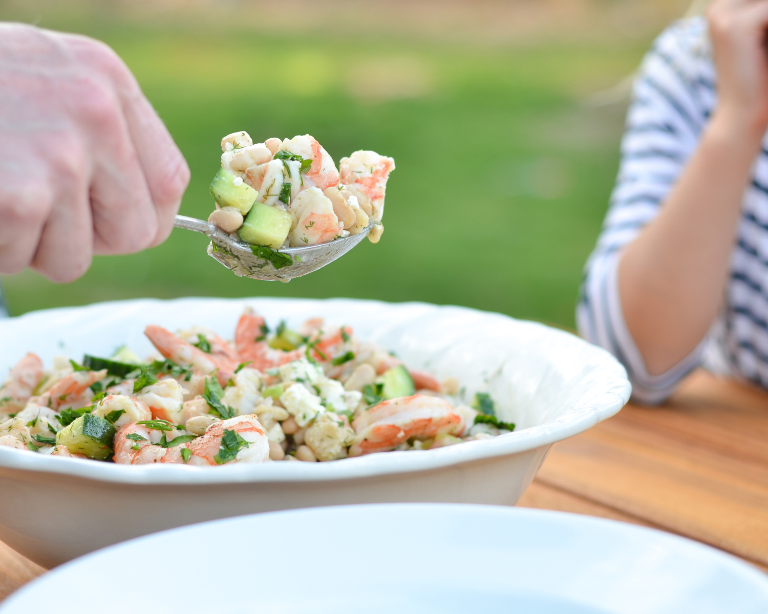 An easy, healthy, make-ahead cucumber shrimp salad recipe, perfect for weeknight dinner and summer entertaining!