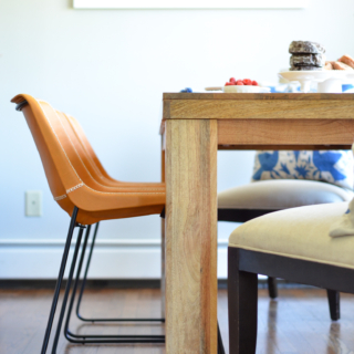 Leather Side Chairs – Breakfast Nook Project