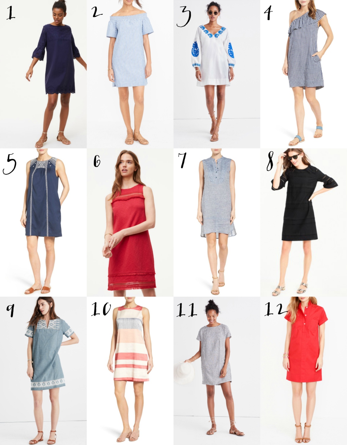 A collection of the season's best shift dresses - perfect for summer days or if you've been wondering what to wear for Mother's Day!