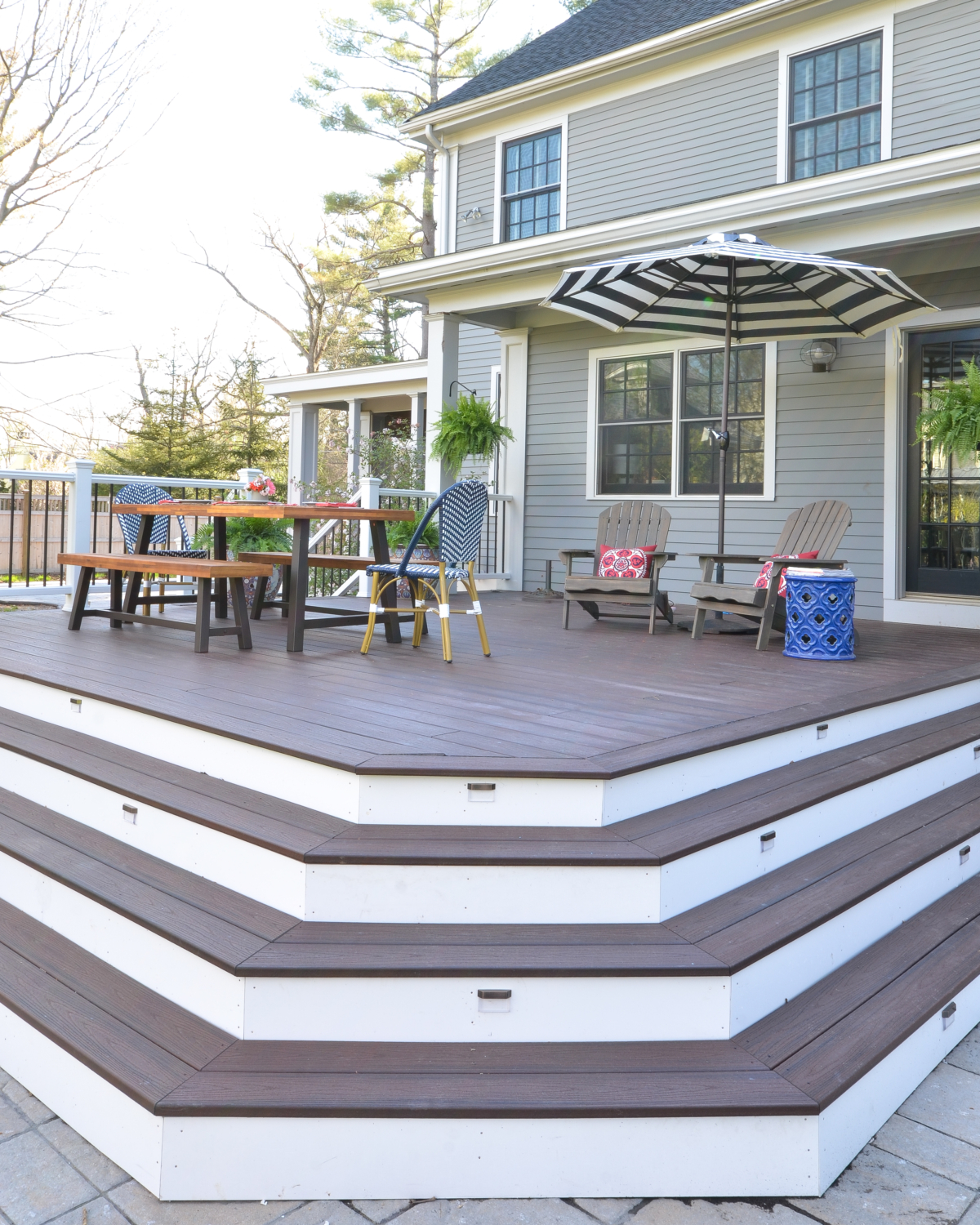 Gorgeous custom deck with Trex Transcend Lava Rock and how you can build one yourself!