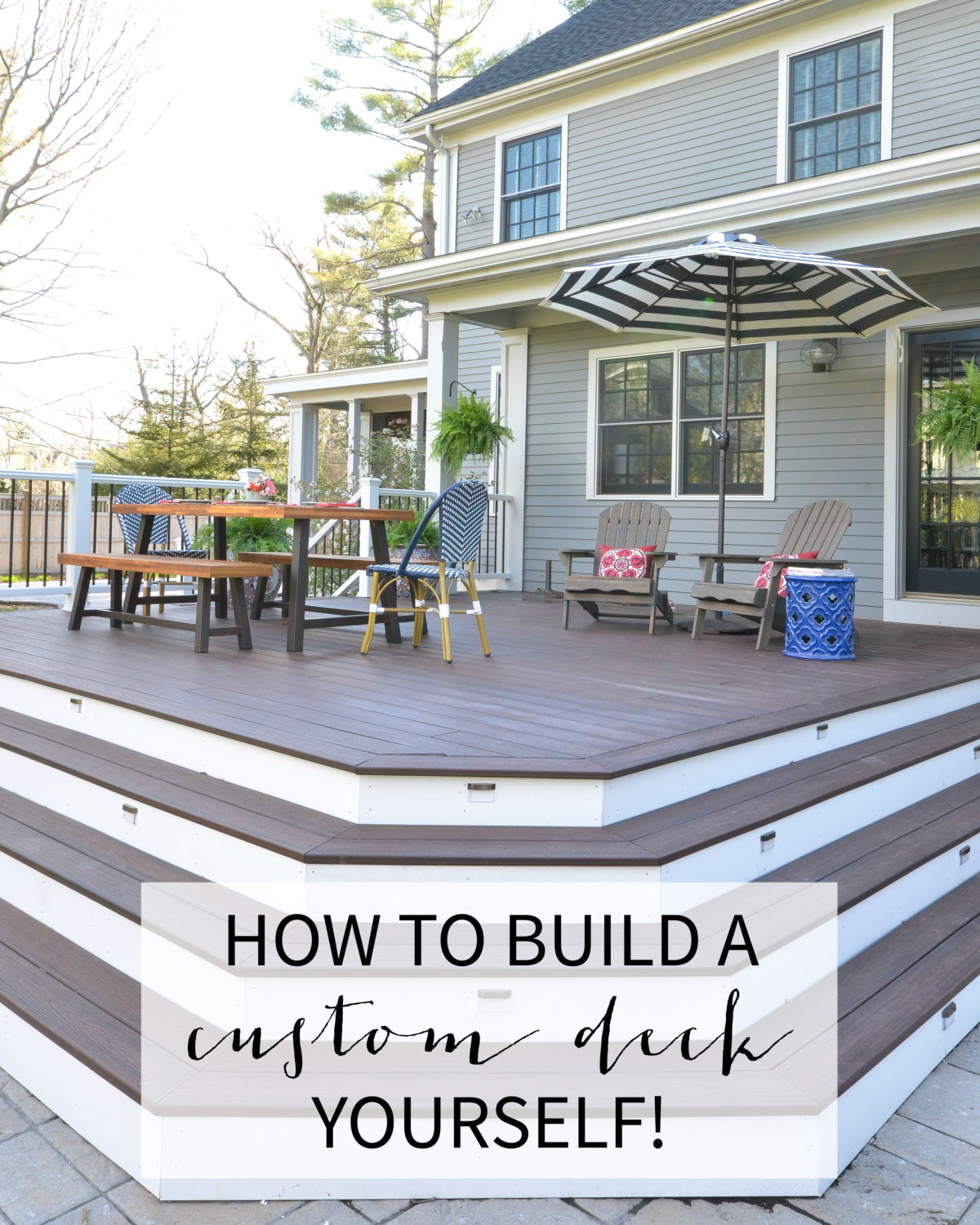 DIY deck reveal - how to build a deck yourself!