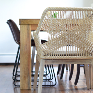 Beige Rope Chairs – Breakfast Nook Project