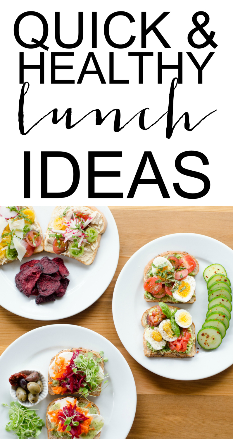 Quick and healthy lunch ideas - try these open faced sandwiches next time you're wondering what to eat for lunch. They're all super fast to make, taste amazing, and will keep you full all afternoon!