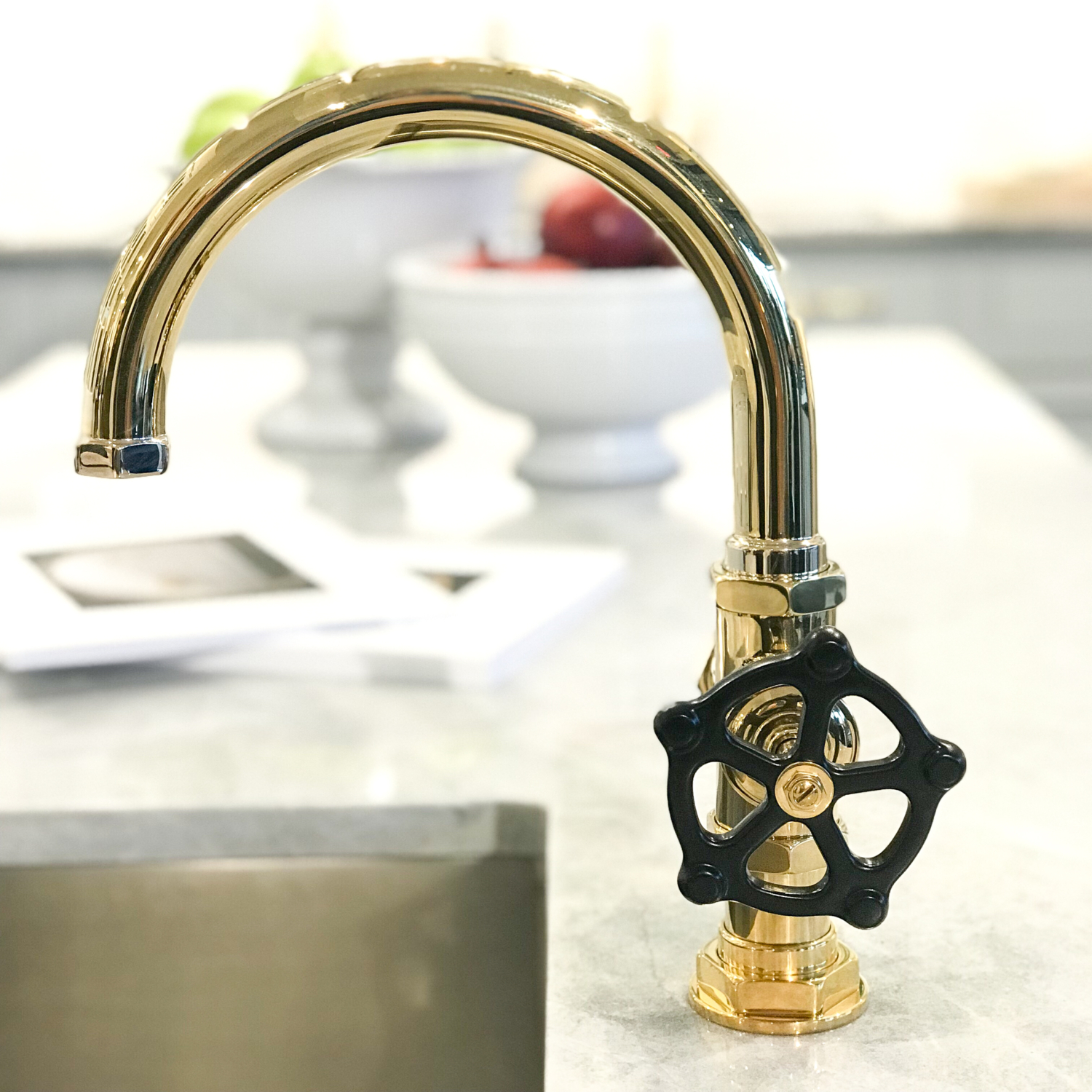 Polished brass faucet - A recap of the 2017 Boston Design Market - an annual event hosted by the Boston Design Center centering around what is new and exciting in interior design.