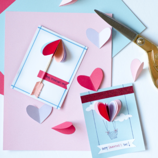 Easy DIY Valentines Using Folded Paper Hearts