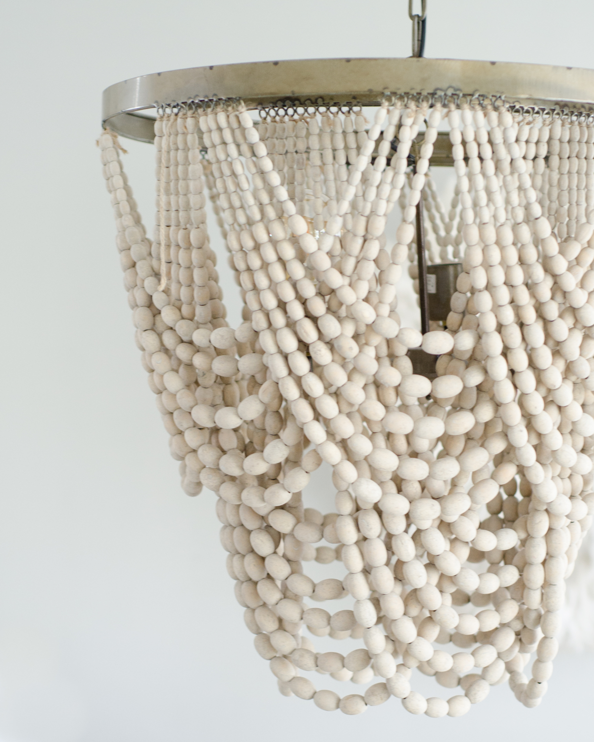 Draped beaded pendant light