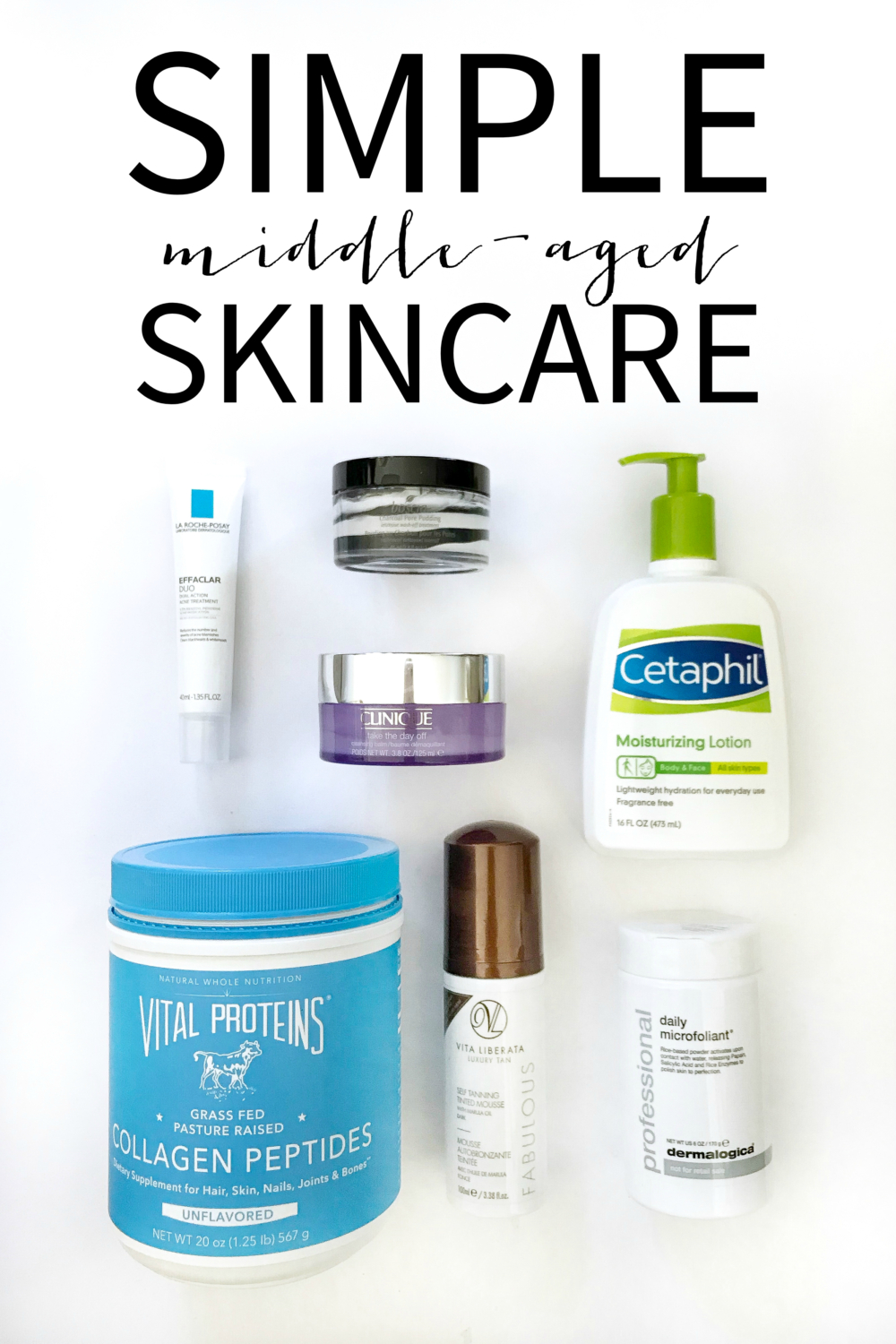 And easy-to-follow middle aged skincare routine with simple steps and products to use, that will keep your face, clear, healthy, and looking fresh!