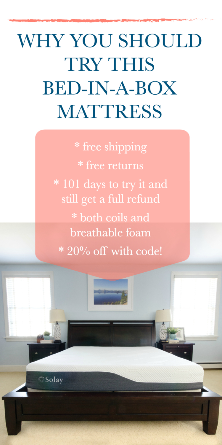 Bed in a box mattress review and why this one is risk free! Plus get 20% off with code!