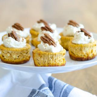 Keto Mini Pumpkin Cheesecakes (Gluten Free)