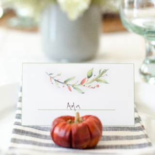Free Printable Fall Placecards