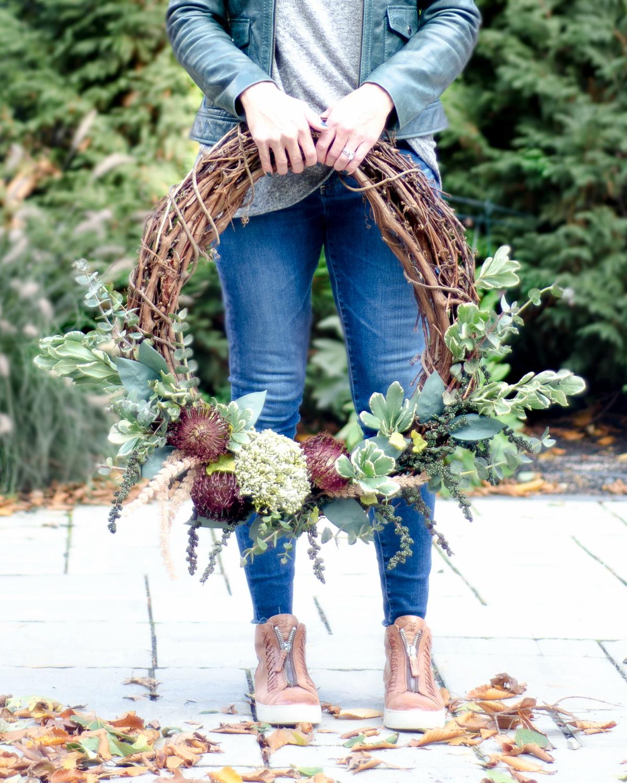 autumn fall wreath diy