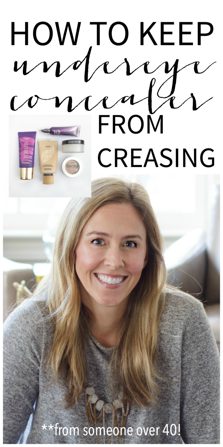 How to keep undereye concealer from creasing. Tips and products that have been tested by someone over 40!