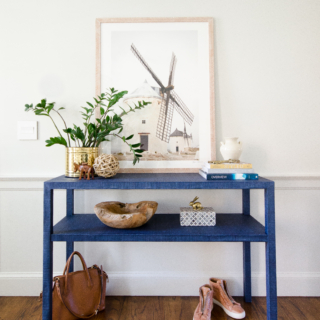 DIY Grasscloth Table {Console Table}