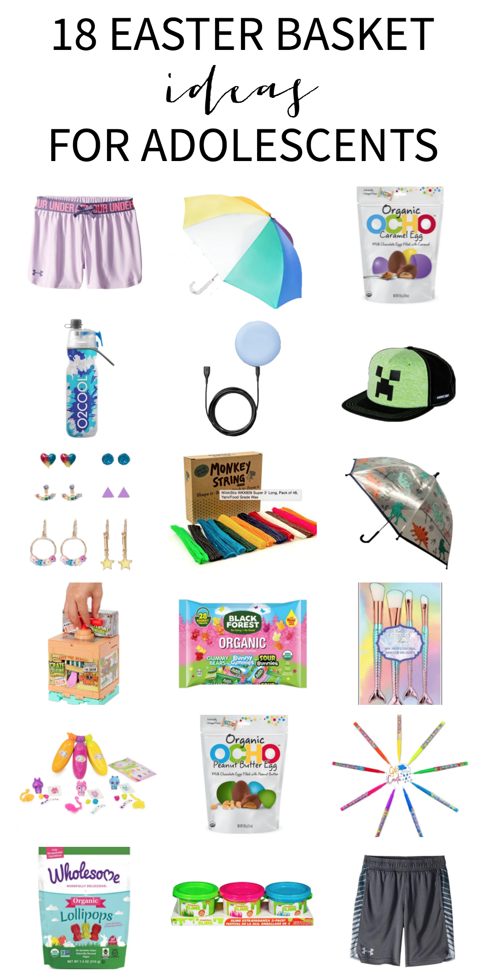 Easter basket ideas for adolescents. Nothing over $20 and all things your kids will actually use!