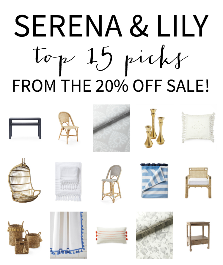 Top 15 items to buy now during the 20% off Serena & Lily Memorial Day sale!